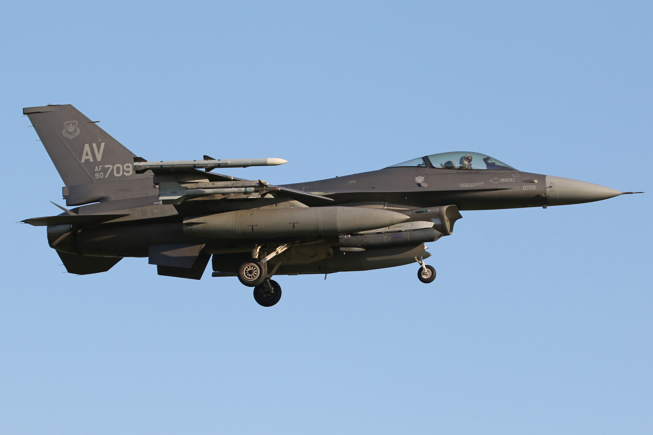 F-16s From The 31st FW At Aviano In Italy, Operate Out Of RAF Lakenheath For A Four Week Deployment